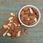 Raw Soaked Almonds 12 oz bag